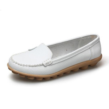 Big Size Cheap Slip-on Style Women Boat Leather Shoes Discount Womens Boat Shoes