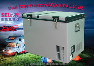 60L New design Popular SOLAR Camping Car freezer BD/C-60ACDC 4x4 trailer RV fridge CE,ETL,RoHS standard AC110V-240V or DC12V/24V