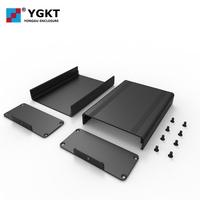 YGS-008 88*38-120mm silvery electrical aluminum instrument enclosure electronics box for pcb project case extruded aluminum case