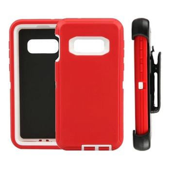 Free shipping Hybrid pc+tpu case for Samsung S5 with clip retail package phone case defender shockproof S10 cover