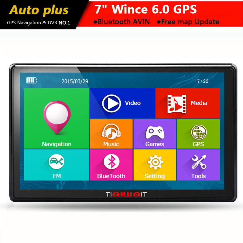 New 7 inch HD Car GPS Navigation Capacitive screen Bluetooth AVIN FM 8GB/256M DDR/800MHZ Truck vehicle gps Navi Free map
