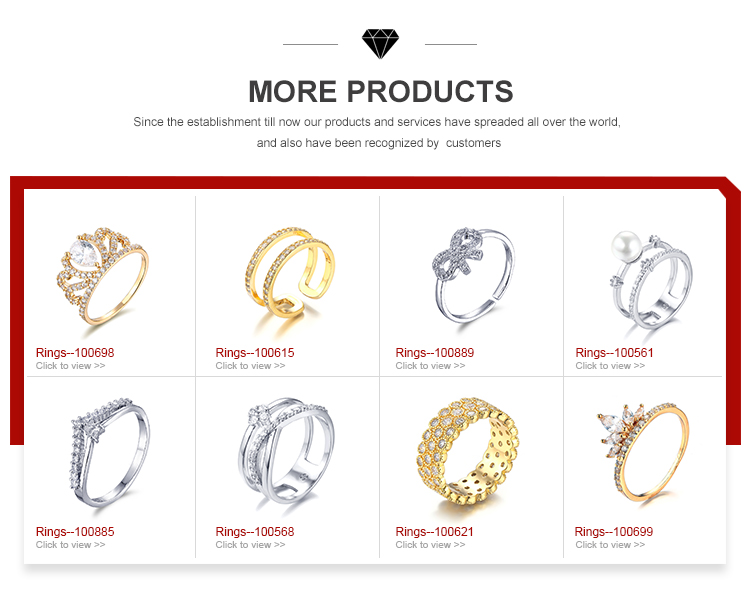 Esunny 100568 custom engagement wedding couple finger 24K gold plated/Platinum plated zirconia jewelry rings for women