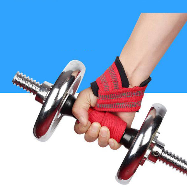 Adjustable Heavy-Duty weight lifting wrist gym straps