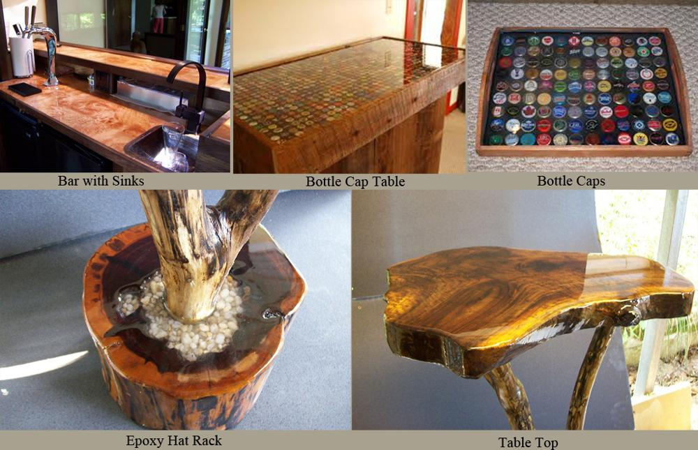High Gloss Clear Epoxy Resin for Home Design Wood Furniture