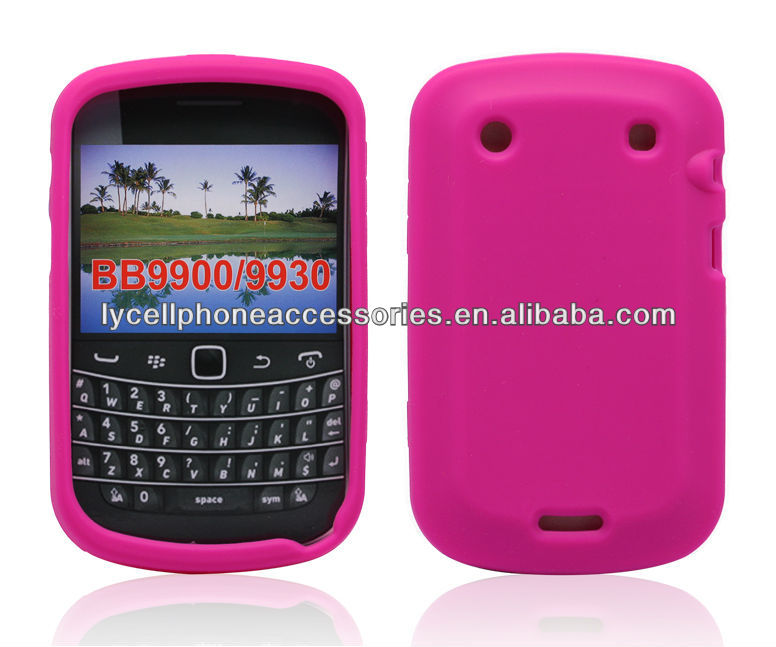 For Blackberry Bold 9900 9930 Pink Silicon Rubber Skin Cover Case
