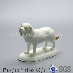 Ceramic animal statue Jewelry Tray with gold plating squirrel