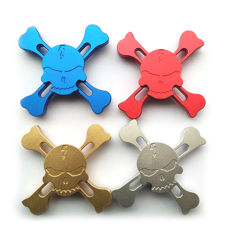 Wholesale Metal Alloy Fidget Spinner skull toy edc (FC-Z13)
