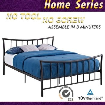 Modern Design Cheap Platform Metal Bed Frame Queen Double Buy