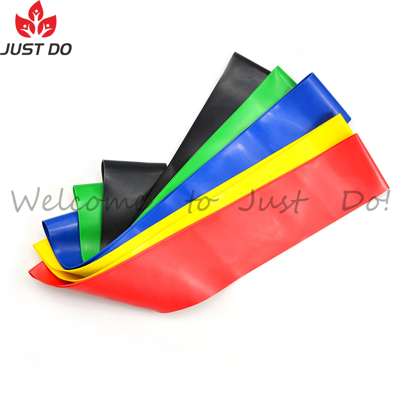 A Set Including 5pcs Fitness Latex Loop Resistance Bands
