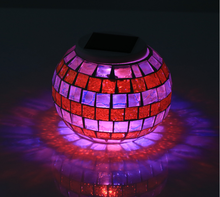 Hotel lobby decorative jar table ornaments solar projector lamps