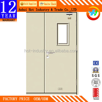 Lovely Entrance Apartment Steel Fireproof Door With Push Bar High Quality Metal  Frame Doors Fireproof Doors Price