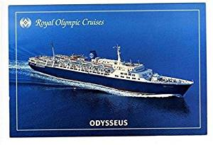 Royal Olympic Cruises Advertising Postcard ODYSSEUS Greek Flag Ship