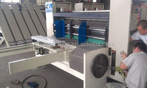 corrugated paper box press folder/cardboard folding gluer machine