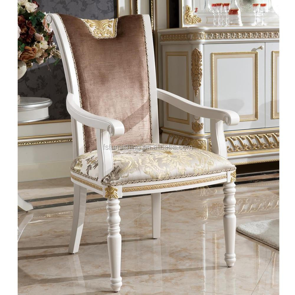 Sala Da Pranzo Country Chic yb62-2 luxury french style gold leaf dining room furniture