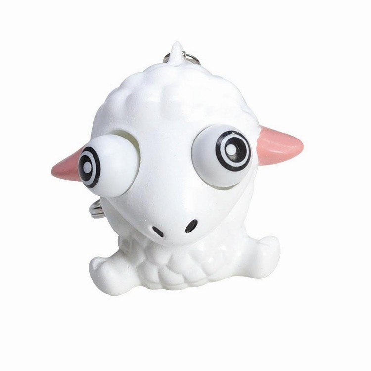Hot salable promotional sheep eye popper pvc keychain