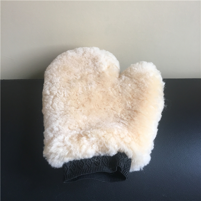 Car wash mitt sheepskin/ car washing gloves