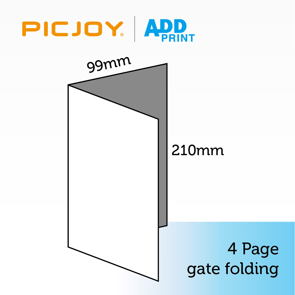 210*99mm, 4 pages (2 panels) gate folding pamphlet sample printing in shanghai
