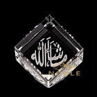 3d Laser Engraved Crystal Tilted Cube as Islamic Wedding Giveaway Gifts