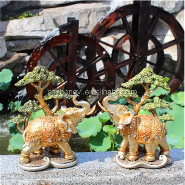 china wholesale factory custom harz hochzeit elefantenfiguren