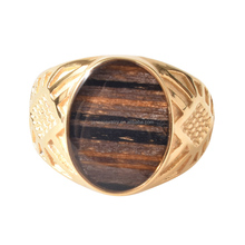 Cheap Wholesale Masonic Signet Ring Men's Gold Plated Wooden Stainless Steel Memory Ring