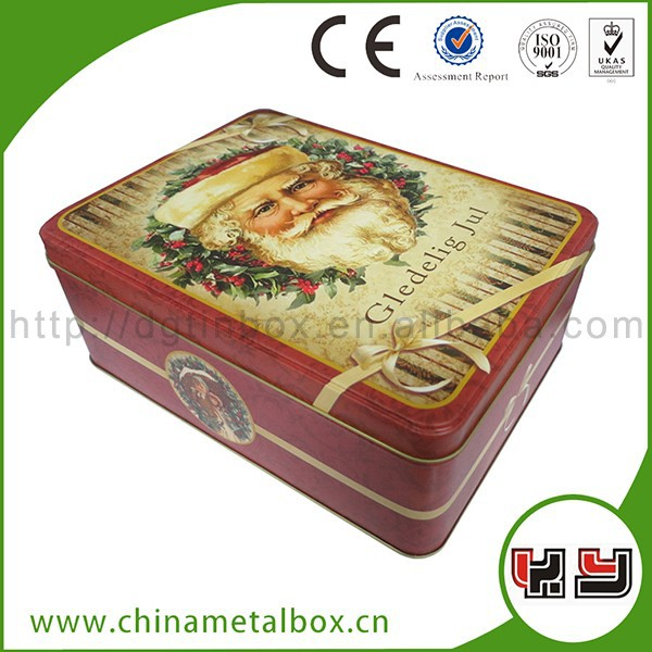 Customize luxury chocolate box food grade christmas gift tin box/tin container for