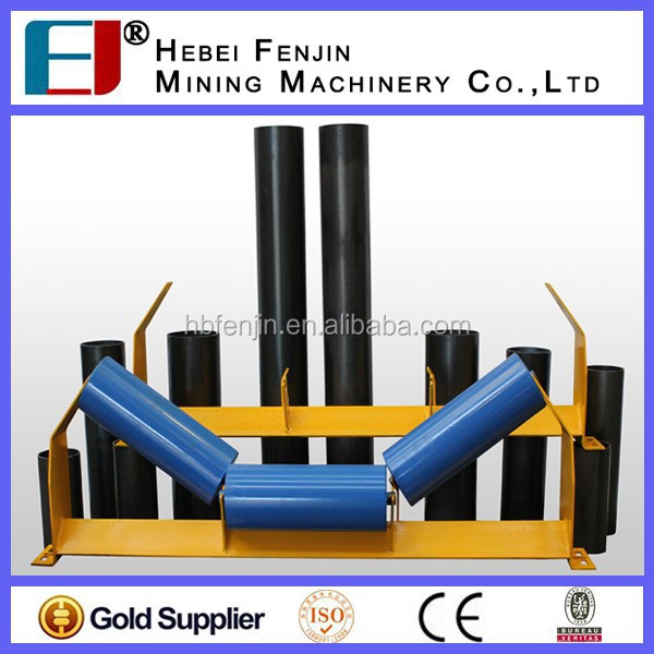 Long Use Life Conveyor Belt Support Roller Trough Roller With ISO Standard