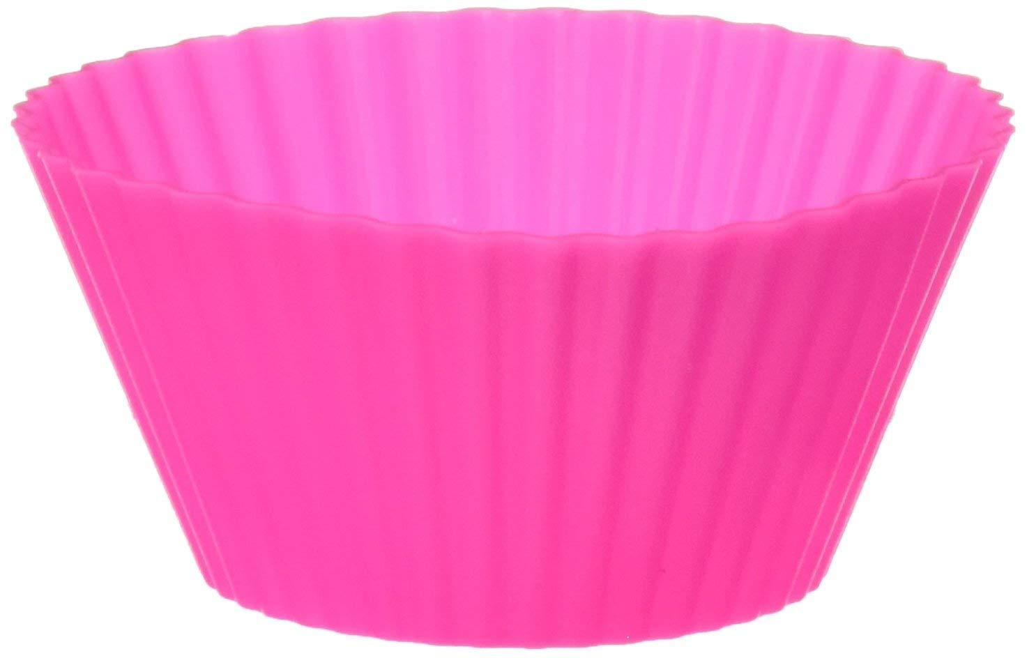 pretty nice 7bda0 c5530 Baking Goodies 12 Piece Reusable Cupcake Cups, Pink