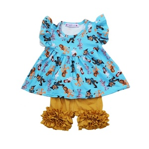 The Wizard of Oz cute baby girls boutique clothing sets sleeveless lion printed outfits with icing shorts