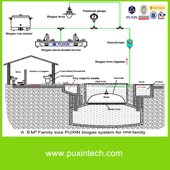 china low cost home biogas plant with biogas stove - Home Biogas System Design