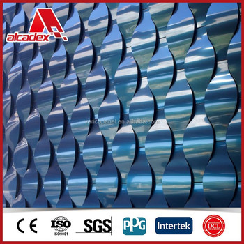 3mm Two Side Pvdf/pe Coated Golden/silver Mirror Aluminum