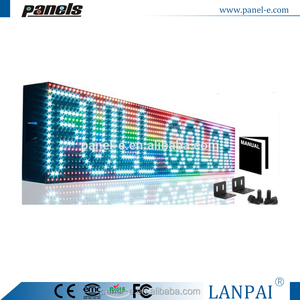 Beer store Full color LED Sign P10 programmable Scroll Message board