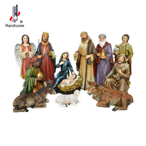 18 inch high Hot sale Christmas 11/S Large Figurines Outdoor Resin Nativity Set