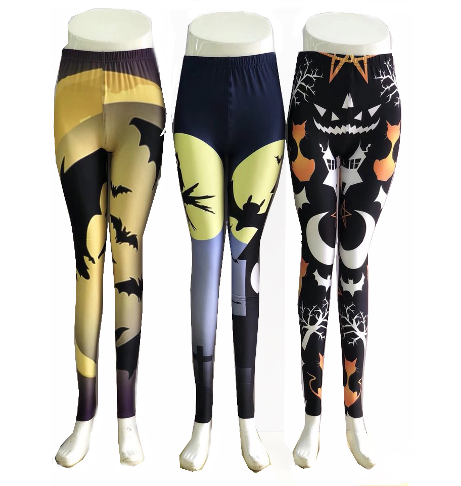 Buttery soft custom printed polyester spandex donuts yoga leggings
