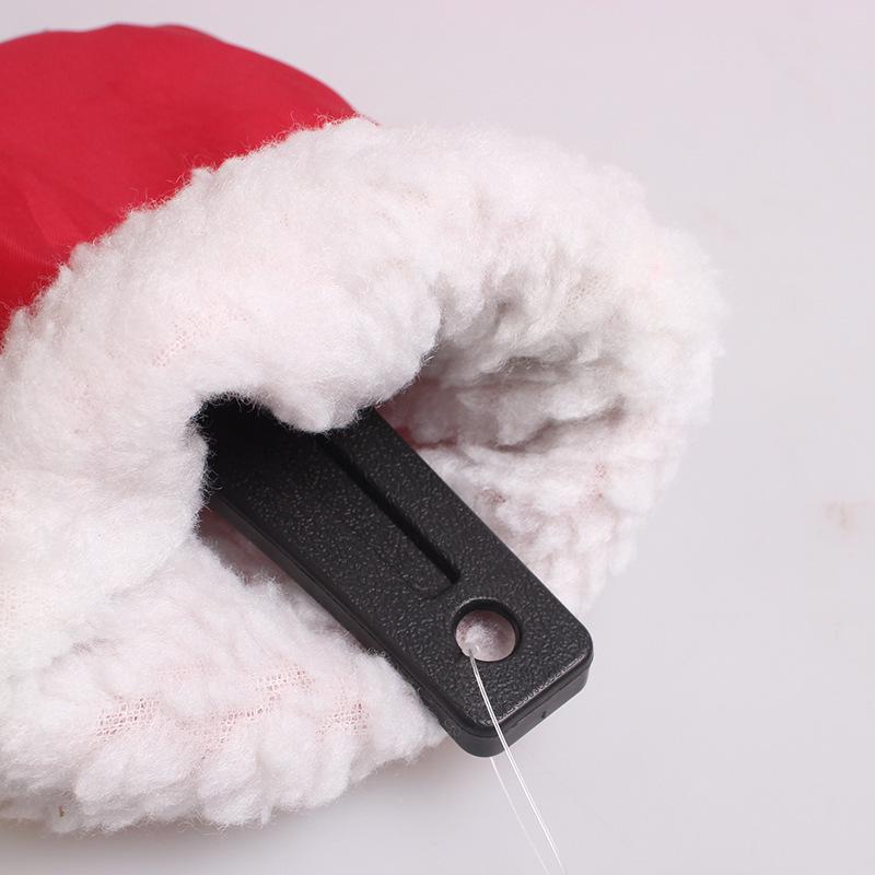 Рождественские красный теплые перчатки автомобиль лед и снег лопатой водонепроницаемый перчатки обледенения лопатой снег щетка с перчатки