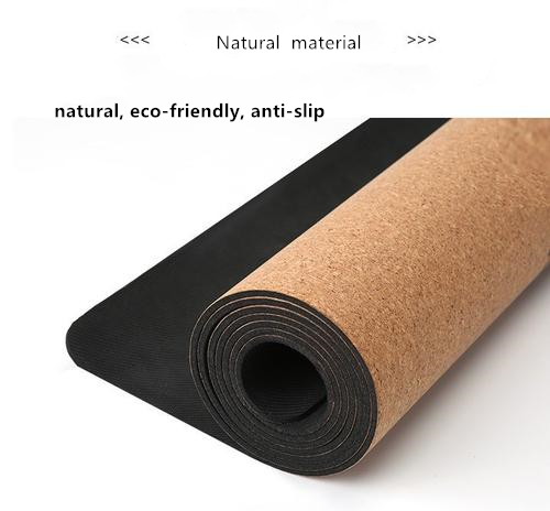 CYCHOS Shanghai  eco friendly rubber yoga mat with cork surface