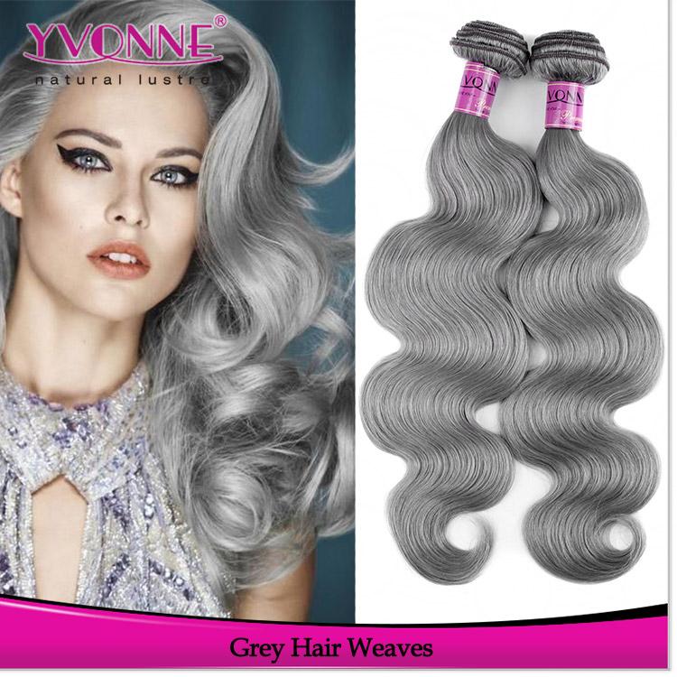 Grey Human Hair Weavingbrazilian Grey Human Hair Sew In Weave Buy