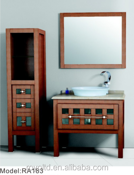 Vintage Hangzhou Funiture Pace Used Bathroom Cabinet American Style Bathroom Cabinets Ra183