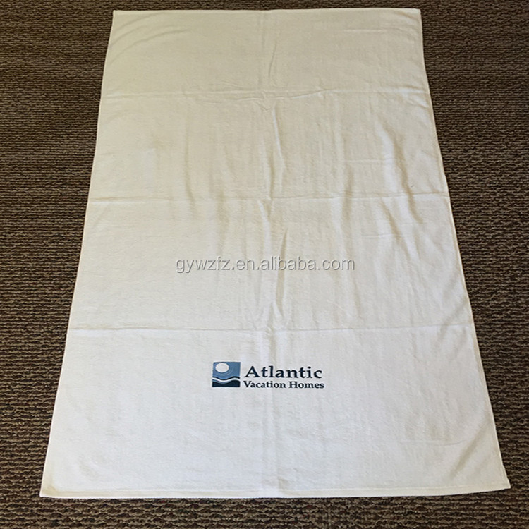 100% Cotton White Blank Hotel Beach Towels 2 meters