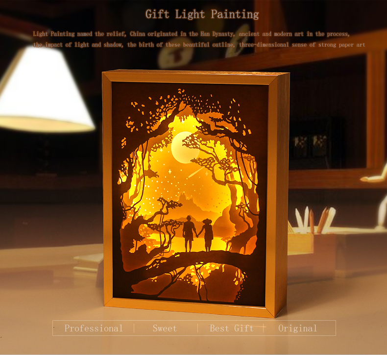 Specialized 3d Shadow Box Wall Art Aluminum Frame Light Box