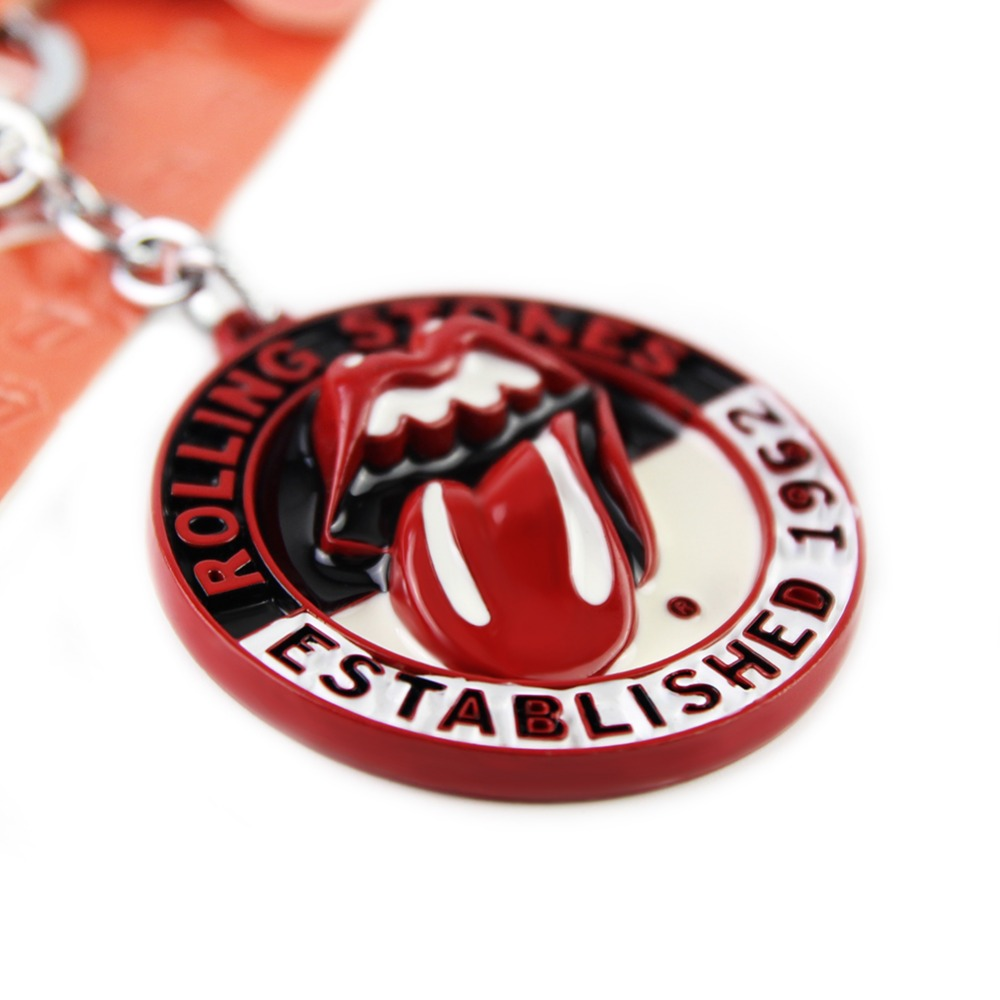 YX332 Hot Selling Classic Music Band Rolling Stones Keychain Red Tongue Keychain