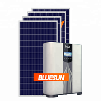 All in one 3000w 5 kw 10kw best bluesun solar energy 5kw solar system 5kw grid tie solar panel system 5000w