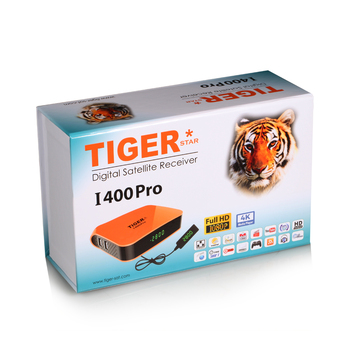 The Newest Product Tiger I400Pro with one year IPTV account support H265 channels 4K Europe iptv box