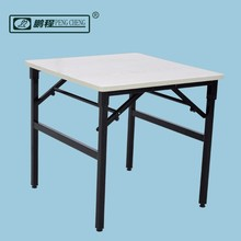 Outdoor Wood Steel Square Folding Table