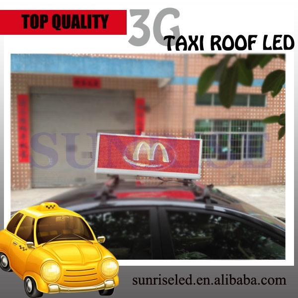 Sunrise IP65 double side led display screen, car roof led screen for advertisings