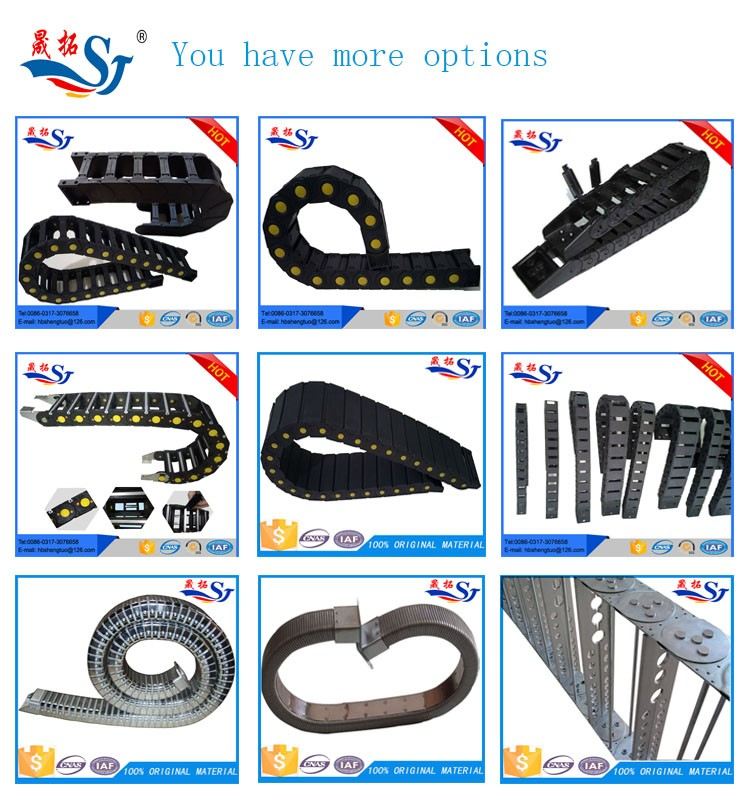 manufacturer hot promotion TP8 flexible plastic cable carrier