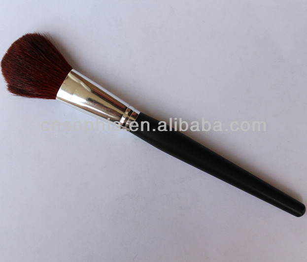 free sample cosmetic makeup brush with wooden handle goat hair used for powder