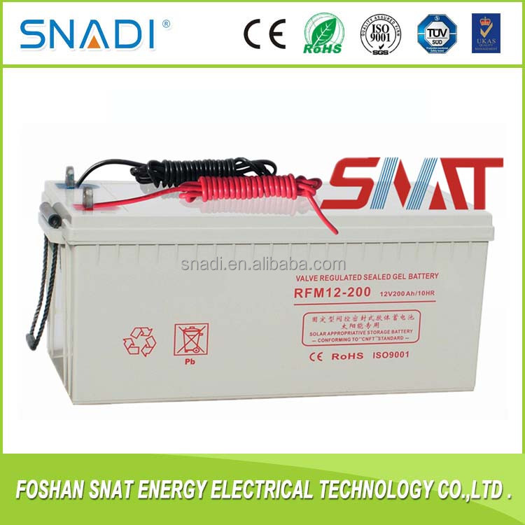 Deep Cycle 12V 100Ah 150Ah 200Ah Solar Gel Battery with manufacture price