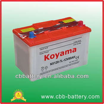 nx120 7l dry charge farm tractor battery 12v80ah garden tractor battery - Garden Tractor Battery