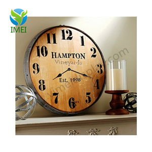 YM07119 fashion art minds clock counntry style solid wooden farmhouse wall sign home decor