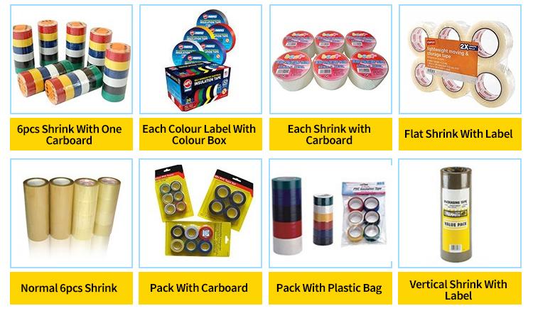 OEM Venta caliente tubo de protección auto sellado rollo adhesivo Jumbo con el logotipo de Pvc cinta de embalaje